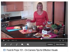 Food & Props 101: On-Camera Tips for Effective Visuals - great for dietitians, chefs, foodies, TV, video
