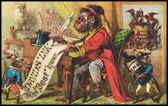 David's Ink Company of 19th century New York - very colorful ad/label