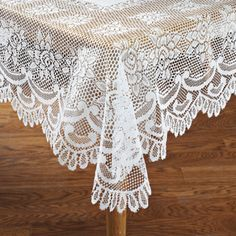 For Sale: White Lace Table cloth/overlay :  wedding Lace