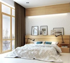 Scandinavian style apartment by Denis Svirid, via Behance