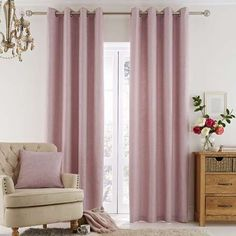 Vermont Pink Eyelet Curtains Dunelm Texture Pink Vermont Lined Eyelet Curtains Pink And Grey Curtains, Pink Bedroom Curtains, Lounge Curtains, Curtains With Blinds, Bedroom Decor, Curtains Dunelm, Bedroom Ideas, Nursery Curtains Girl, Bedrooms