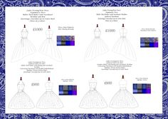 Current project for university- range plan for paisley pattern project including garments, price and fabrics