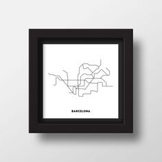 TROME - BARCELONA is a minimalistic art made from original metro maps. Influenced by simplicity and modernity.
