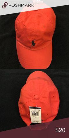 22e74b7a74c35 Polo by Ralph Lauren hat Orange Blue logo NWT Polo by Ralph Lauren  Accessories Hats