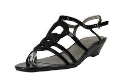 Karen Scott Jeni Black Heeled Sandals
