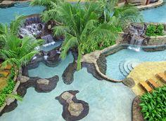 Waterfall inspired pool in Costa Rica.