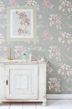 floral wallpaper diy