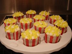 popcorn cupcakes | decided to make chocolate marshmallow cream filled cupcakes topped ...