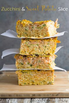 Zucchini And Sweet Potato Slice Recipe.Zucchini And Sweet Potato Slice. Zucchini Slice Recipe Perfect For School Lunches Julie . Almond Recipes, Dairy Free Recipes, Baby Food Recipes, Paleo Recipes, Cooking Recipes, Vegetarian Recipes Thermomix, Cooking Games, Savoury Slice, Fodmap
