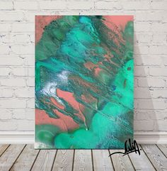 #EmeraldPrinting #LargeAbstract #TurquoiseandCoral #LargeCanvas #Seascape #TurquoisePainting,  #Coral #AbstractArt, #Green #ArtforSale #OceanArt #OceanPrint #WallArt #LargeArt #EmeraldPainting #BeachDecor #Nautical #LargeCanvasArt, #FineArtPrint, #CanvasPrint #WatercolorPainting, #Giclee, #TurquoiseHomeDecor by #JuliaApostolova #JuliaArtGifts on #Etsy