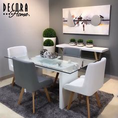 Best Decor Ideas For Living Room Glam 48 Ideas Living Room Grey, Home Living Room, Living Room Decor, Dinner Room, Green Furniture, Dinning Table, Dining Room Design, Home Interior Design, Sweet Home