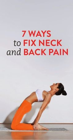 ways to fix neck and back pain