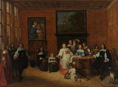 Portretgroep in een interieur, Gillis van Tilborgh, 1660 - 1665   Museum Boijmans Van Beuningen