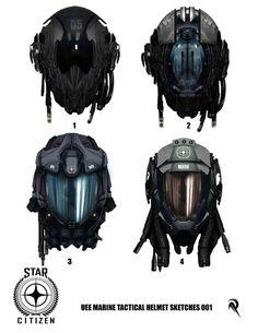 Cloud Imperium previews spiffy Star Citizen marine concept - nice helmets!