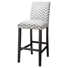 Uptown Bar Stool - Grey & White Chevron...possible new bar stools?