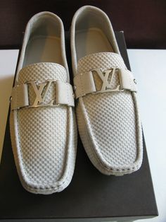 "100��0AUTHENTIC LOUIS VUITTON MENS""MONTE CARLO'SHOE/LOAFER SIZE10/10.5 US! NIB!!!"