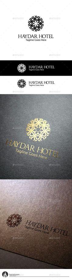 Haydar Hotel Logo Template #design Download: http://graphicriver.net/item/haydar-hotel-logo/10189433?ref=ksioks