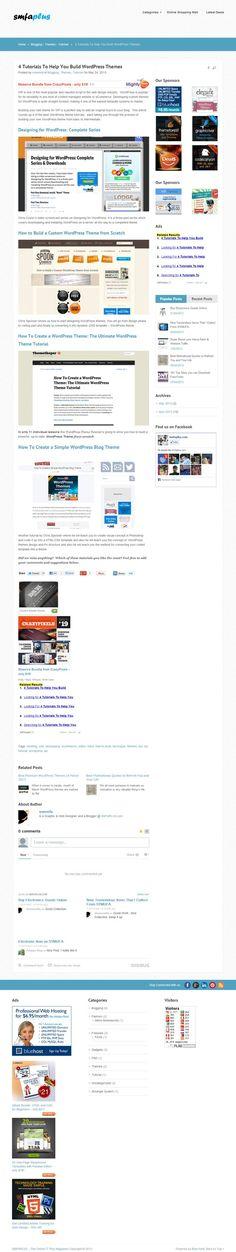 4 Tutorials To Help You Build WordPress Themes http://smfaplus.com/?p=628