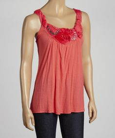 Another great find on #zulily! Fuchsia Embellished Sleeveless Tunic by Simply Irresistible #zulilyfinds