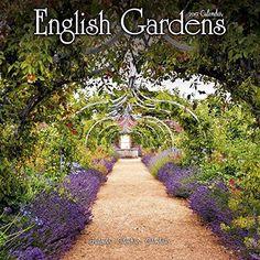 Garden Calendar - English Gardens Calendar - Calendars 2016 - 2017 Wall Calendars - Flower Calendar - English Gardens 16 Month Wall Calendar