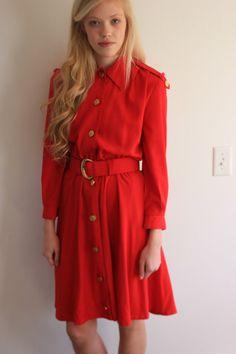 Vintage Red Dress XS/S by 206LoveBones on Etsy, $32.00