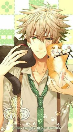 Anime picture amnesia idea factory kent (amnesia) hanamura mai single tall image short hair highres blonde hair smile green eyes looking away absurdres scan official art open collar boy animal glasses necktie 370415 en Boys Anime, Chica Anime Manga, Hot Anime Boy, Anime Love, Manga Boy, Amnesia Anime, Happy Tree Friends, Anime Style, Neko