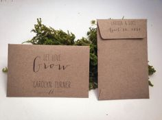100 Rustic Seed Packet Favors and Escort Cards, Handmade Mini Kraft Envelope DIY