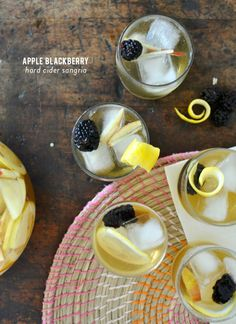 Hard Cider Sangria has quite the ring to it; especially when you add apple and blackberry to that mix. This is a cooled down version of a favorite cider cocktail perfect for fallsipping.