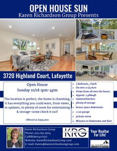 OPEN HOUSE THIS SUNDAY 1-4pm!  The location is perfect, the home is charming, it has everything you could want, from views, to updates, to plenty of room for entertaining & storage-come check it out!