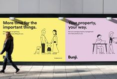 Bunji is redefining property management once and for all. Bunji's priorities are to build organic relationships with people and provide an exceptional, honest and reliable service. The key requirement for the brand was communicating approachability. Identity Design, Visual Identity, Brand Identity, Hoarding Design, Minimal Web Design, Billboard Design, Poster Design, Brand Campaign, Wine Festival
