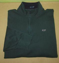 Men's VINEYARD VINES Pullover  1/2 Zip Sweater Sz L Large - Green #vineyardvines #12Zip