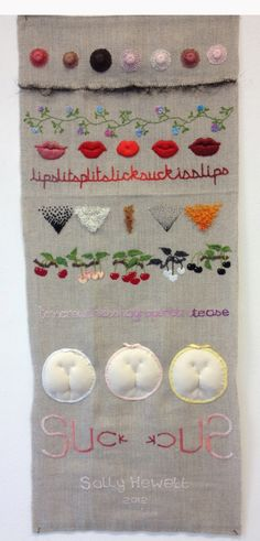 Sally Hewett: Embroidered Body Parts