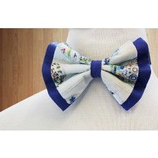 Cream & Contrast Blue Butterfly Bow - Accessories for boys   http://www.brownbows.com/accessories