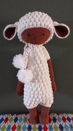LUPO the lamb made by Dorien / crochet pattern by lalylala