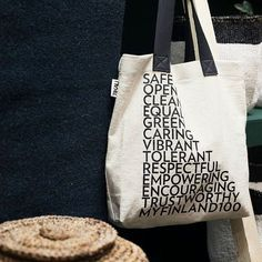 Tikau's newest products are now at Habitare's ethical area! One of them is Equal and Open- bag. The words written on the bags represent what we hope our Finland will be next 100 years. They are made from hand woven organic cotton.