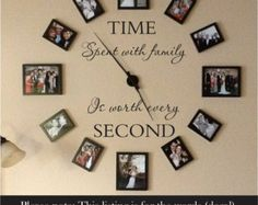 Time spent with family is worth every second wall decal - family wall decal - family decal - Time wall decal - home decor - family wall decor Our wall decals an Family Clock, Family Wall Decor, Family Room, Cute Wall Decor, Family Family, Family Affair, Cheap Home Decor, Diy Home Decor, Decoration Stickers