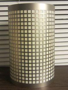 midcentury silver tone hollywood regency metal lamp shade - Metal Lamp Shades