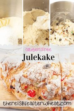 Gluten Free Julekake is a beautiful Norwegian Christmas bread studded with raisins and candied fruits with a subtle hint of cardamom. This bread is light, fluffy, and SO easy to make! Gluten Free Crepes, Best Gluten Free Desserts, Gluten Free Recipes For Breakfast, Gluten Free Breakfasts, Gluten Free Flour, Norwegian Christmas, Christmas Bread, Food Allergies, Us Foods