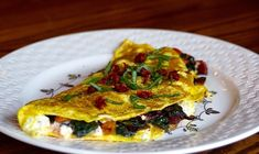 Turmeric Infused Omelet (filled with feta, roasted peppers & chard) Roasted Onions, Roasted Peppers, Cooking Bacon, Healthy Cooking, Paleo Pesto, Whole Food Recipes, Healthy Recipes, Peanut Butter Filling, Tomato Pesto