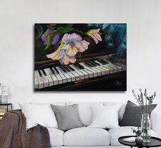 Αντίγραφο έργου τέχνης σε καμβά – πίνακας έτοιμος για τοποθέτηση   Πίνακας σε καμβά, τελαρωμένος  Εκτύπωση θέματος με ψηφιακή εκτύπωση σε καμβά 100% βαμβακερό  Τελάρο κουτί 4,5 cm Gallery, Flowers, Painting, Health, House, Art, Art Background, Roof Rack, Health Care