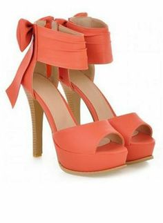 bb5ddb437a061d Sexy Bows and Stiletto High Heels Design Women s Sandals