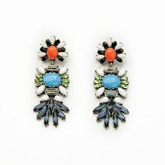 Colored Stone Statement Earrings – Fanduoduo Jewelry