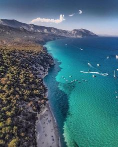 Spiaggia Cala Luna Golfo Di Orosei Nuoro Sardegna Italia