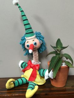 Mr Squiggle Plush Toy  Vintage Mr Squiggle Stuffed Toy