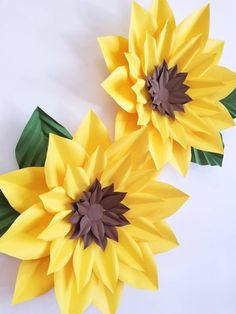 """This listing is for the Sunflower Template This template includes 5 different sized petals, that help to create sunflowers ranging from 10""""-20""""wide Written instructions are not Included, full video tutorials can be found on my FB page. Templates are NOT to be RESOLD or SHARED to"""
