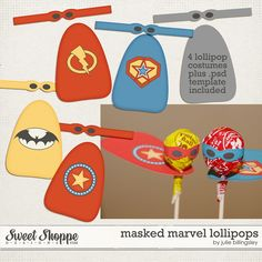 Masked Marvels Lollipops by Julie Billingsley