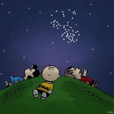Snoopy in the stars.