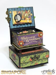 Halloween in Wonderland Notebooks and Boxes, Project by Alexandra Morein, Product by Graphic 45, Photo 9