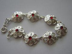 Handmade Sterling Silver Filigree Rosetta Bracelet by TrulyFiligree on Etsy, $68.50