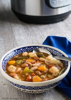 Instant Pot Vegetable Soup: You can add your ingredients to the Instant Pot and walk away. Come back to a delicious, healthy vegan soup!